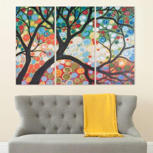 "Safavieh 3-piece ""Cherry Blossom"" Triptych Canvas Wall Art Set"