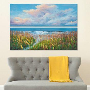 Safavieh 2-piece ''Beach Walk'' Diptych Canvas Wall Art Set