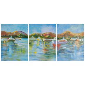 Safavieh 3-piece ''Sailor's Cove'' Triptych Canvas Wall Art Set