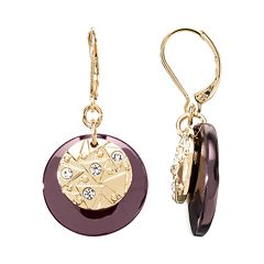 Dana Buchman Textured Disc Drop Earrings