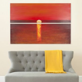Safavieh 2-piece ''Sanibel Sunset'' Diptych Canvas Wall Art Set