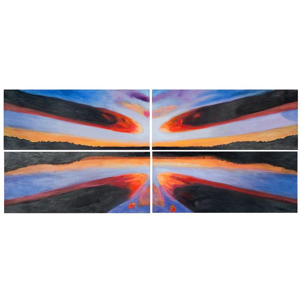 Safavieh 4-piece ''Sailor's Paradise'' Canvas Wall Art Set
