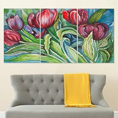 Safavieh 3-piece ''Novae Tulips'' Canvas Wall Art Set