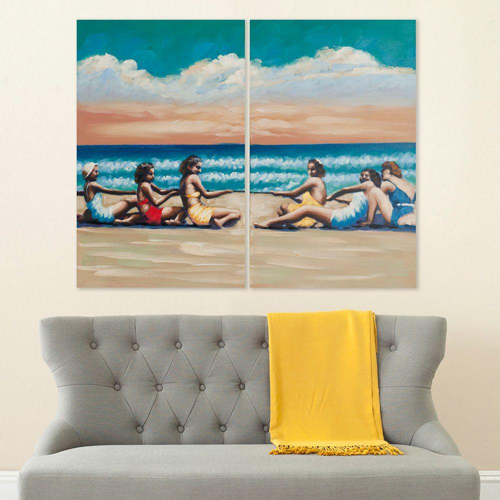 Safavieh 2-piece ''Swim Competition'' Canvas Wall Art Set