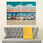 Safavieh 2 pc ''Swim Competition'' Canvas Wall Art Set