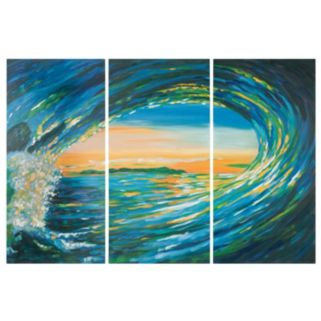 Safavieh 3-piece ''Blue Grotto'' Wall Art Set