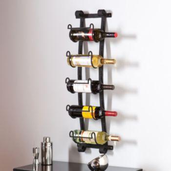 Southern Enterprises Arlington 5-Bottle Wall Wine Rack