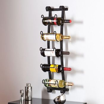 Southern Enterprises Arlington 5-Bottle Wall Wine Rack