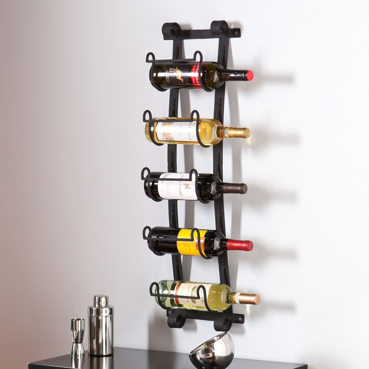 Southern Enterprises Arlington 5 Bottle Wall Wine Rack