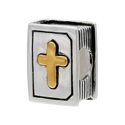 Individuality Beads 14k Gold Over Silver & Sterling Silver Bible Bead