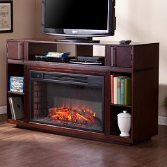 Southern Enterprises Ellwood Media Console Electric Fireplace