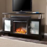 Southern Enterprises Liddell Media Console Electric Fireplace