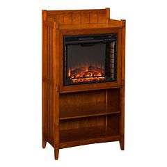 Southern Enterprises Templeton Mission Electric Fireplace Cabinet by