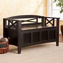 Southern Enterprises Clarence Storage Bench