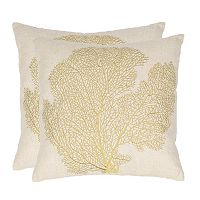 Spice Fan Coral 2 pc Throw Pillow Set