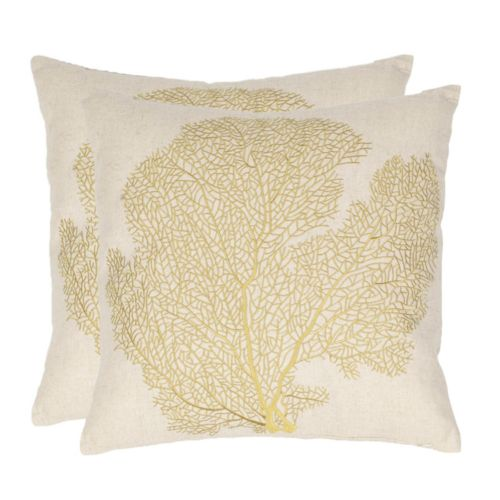 Spice Fan Coral 2-piece Throw ...