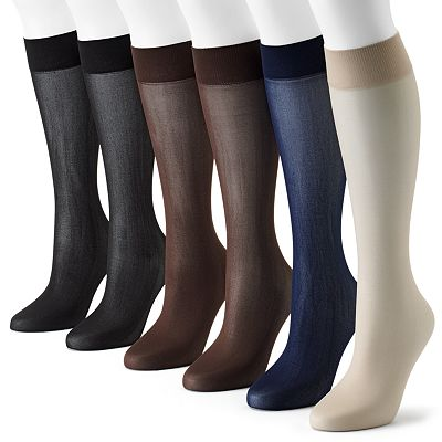 apt. 9 6-pk. Smooth Trouser Socks