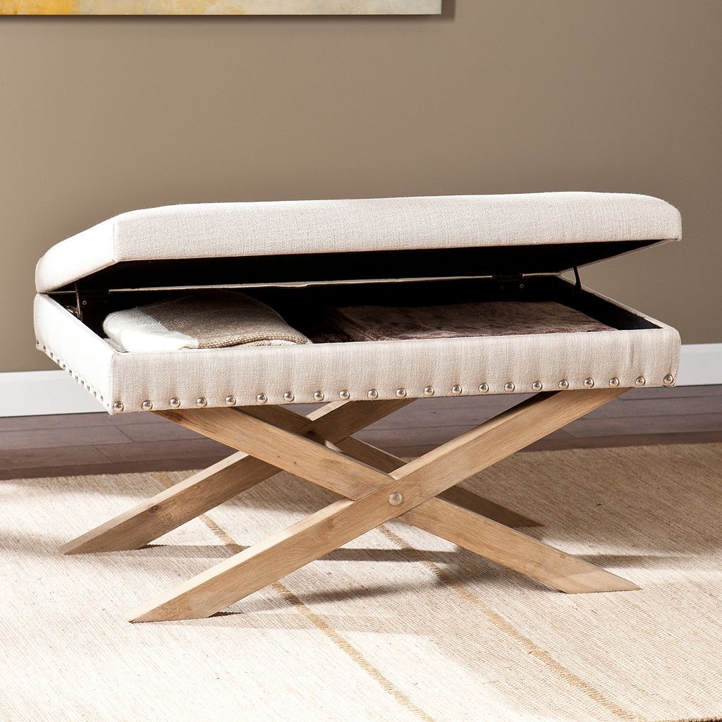 Southern Enterprises Fontana Storage Bench