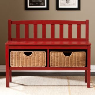 Southern Enterprises Rattan Terra Storage Bench