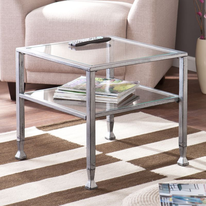 Southern Enterprises Two-Tiered End Table, Other Clrs