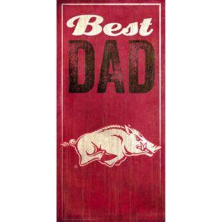 Arkansas Razorbacks Best Dad Sign