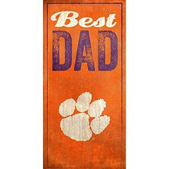 Clemson Tigers Best Dad Sign