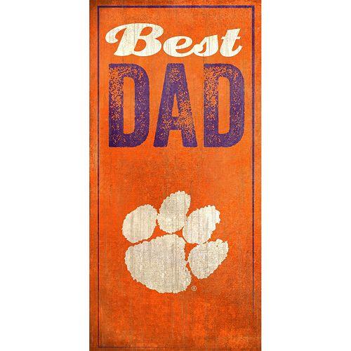 Clemson Tigers Best Dad Sign