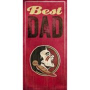 Florida State Seminoles Best Dad Sign