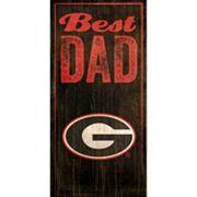 Georgia Bulldogs Best Dad Sign
