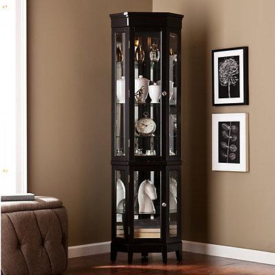 Southern Enterprises Lighted Armidale Curio Cabinet