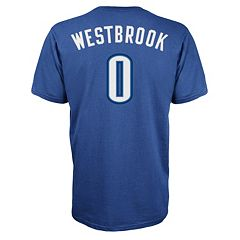 Men's adidas Oklahoma City Thunder Russell Westbrook Player Name and Number Tee