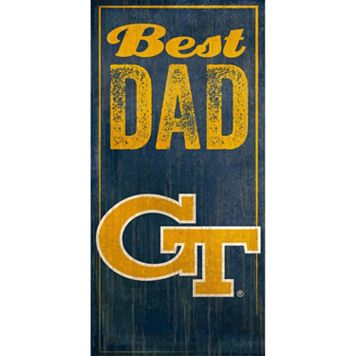 Georgia Tech Yellow Jackets Best Dad Sign
