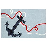 Trans Ocean Imports Liora Manne Visions II Anchor Doormat - 20'' x 29 1/2''