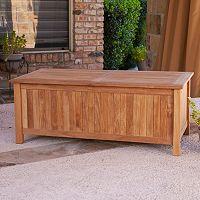 Southern Enterprises Teak Storage Bench