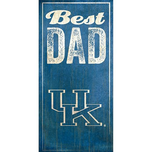 Kentucky Wildcats Best Dad Sign