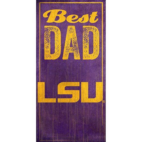 LSU Tigers Best Dad Sign