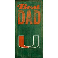 Miami Hurricanes Best Dad Sign