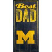 Michigan Wolverines Best Dad Sign