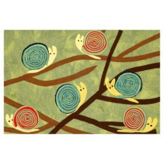 Trans Ocean Imports Liora Manne Visions III Snails Grass Doormat - 20'' x 29 1/2''