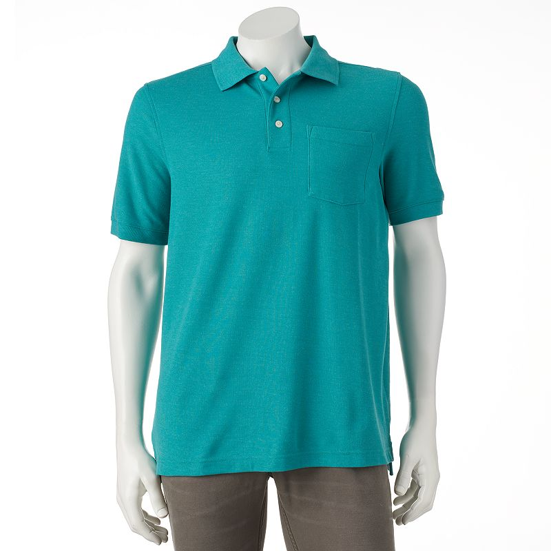 Mens polyester pique polo kohl 39 s for Croft and barrow womens polo shirts