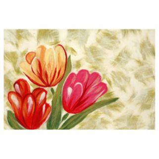 Trans Ocean Imports Liora Manne Visions IV Tulips Doormat - 20'' x 29 1/2''