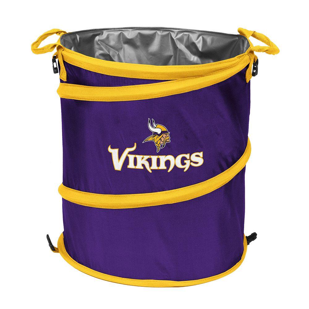 Logo Brand Minnesota Vikings Collapsible 3-in-1 Trashcan Cooler