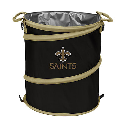 Logo Brand New Orleans Saints Collapsible 3-in-1 Trashcan Cooler