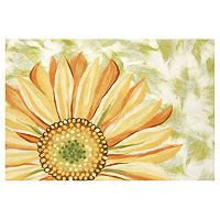 Trans Ocean Imports Liora Manne Visions IV Sunflower Doormat - 20'' x 29 1/2''
