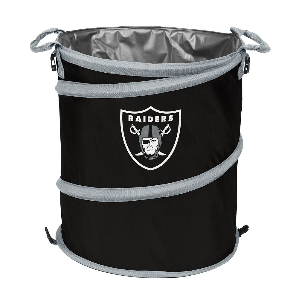 Logo Brand Oakland Raiders Collapsible 3-in-1 Trashcan Cooler