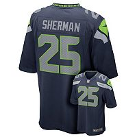 Nike Seattle Seahawks Richard Sherman Replica NFL Jersey - Boys 8-20