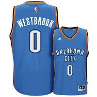 Men's adidas Oklahoma City Thunder Russell Westbrook Swingman NBA Replica Jersey