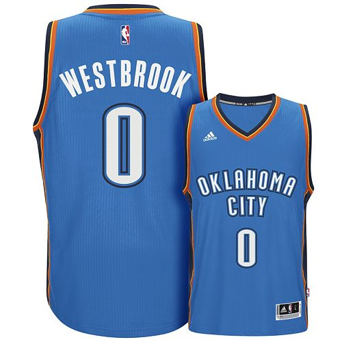 best service 84956 e4a4e Men's adidas Oklahoma City Thunder Russell Westbrook ...