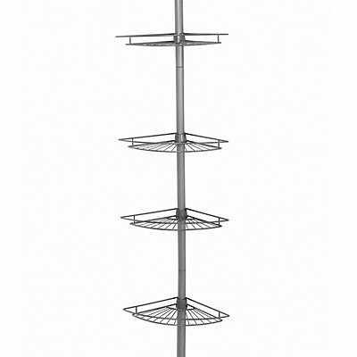 Zenna Home 4-Tier Tension Pole Shower Organizer