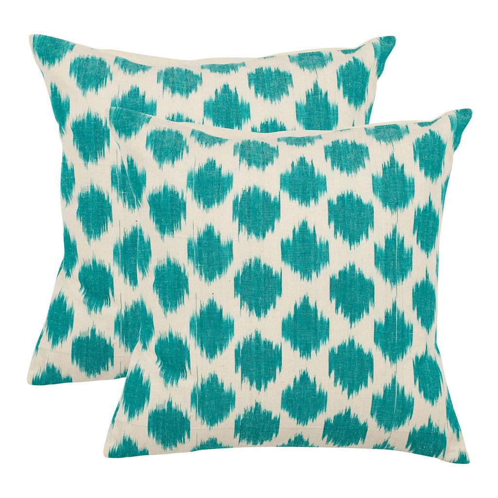 Polka Dot Ikat 2-piece 18'' x 18'' Throw Pillow Set